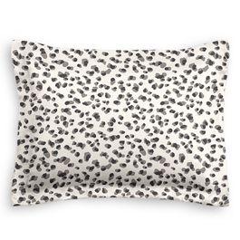 Black & White Leopard Print Sham