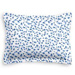 Blue Leopard Print Sham