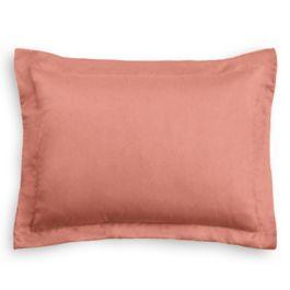 Coral Pink Velvet Sham