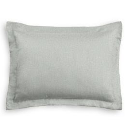 Heathered Light Gray Woven Blend Standard Sham