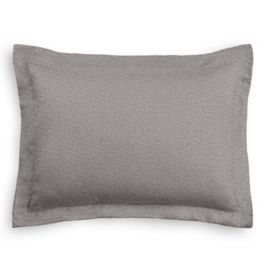 Heathered Gray Woven Blend Standard Sham