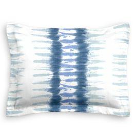 Aqua Blue Shibori Stripe Sham