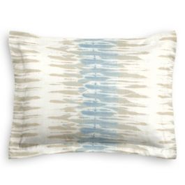 Blue & Tan Shibori Stripe Sham