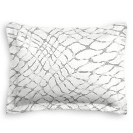 Gray & White Net Sham
