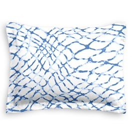Blue & White Net Sham