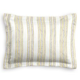 Embroidered Yellow Stripe Sham