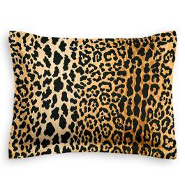 Velvet Leopard Print Sham