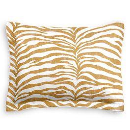 Gold Zebra Print Sham