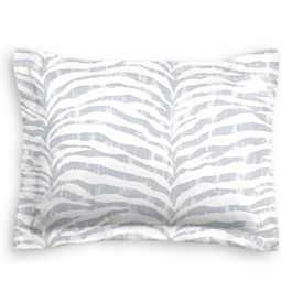 Light Gray Zebra Print Sham