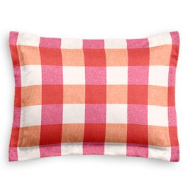 Pink & Orange Buffalo Check Sham