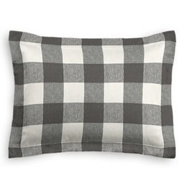 Gray & White Buffalo Check Sham