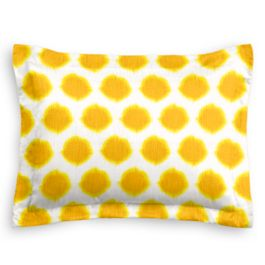 Bright Yellow Dot Sham