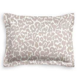 Gray & White Leopard Print Sham