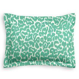 Bright Green Leopard Print Sham