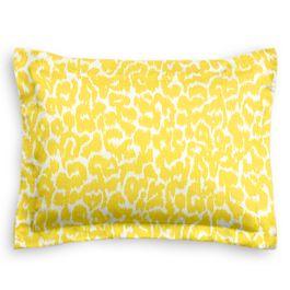 Yellow Leopard Print Sham