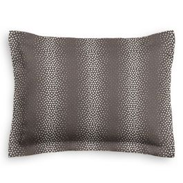 Dark Taupe Dotted Stripe Sham