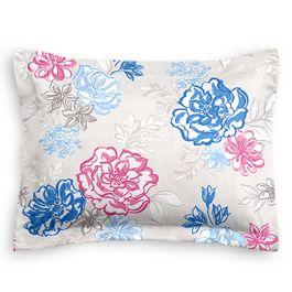 Blue & Pink Floral Sham