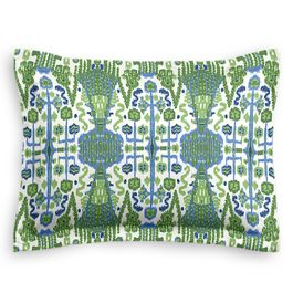 Green & Blue Ikat Sham