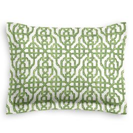 Green Watercolor Trellis Sham