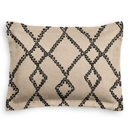 Black & Tan Tribal Trellis Standard Sham