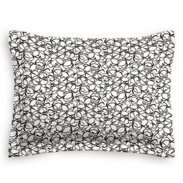 Black & White Abstract Hexagon Standard Sham