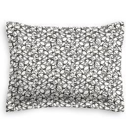 Black & White Abstract Hexagon Standard Sham