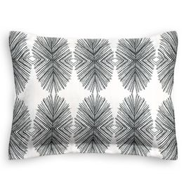 Black & White Spiky Oval Standard Sham