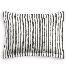 Black & White Bamboo Standard Sham