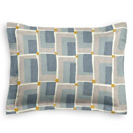 Blue & Gray Geometric Standard Sham