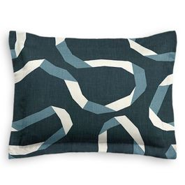 Navy Blue Ribbon Standard Sham
