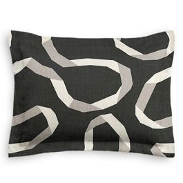 Charcoal Gray Ribbon Standard Sham