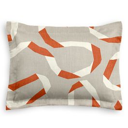 Orange Red Ribbon Standard Sham