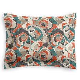 Red Orange Abstract Standard Sham
