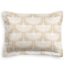 Natural & White Bird Standard Sham