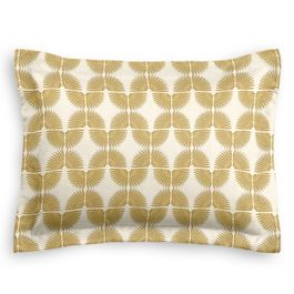 Ivory & Metallic Gold Fan Standard Sham