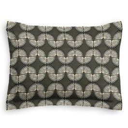 Dark Gray & White Fan Standard Sham