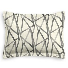 Black & White Abstract Stripes Standard Sham