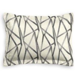 Black & White Abstract Stripes Standard Sham