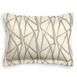 Silver & Tan Abstract Stripes Standard Sham
