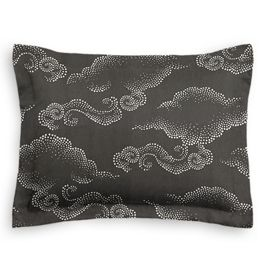 Charcoal Gray Cloud Standard Sham