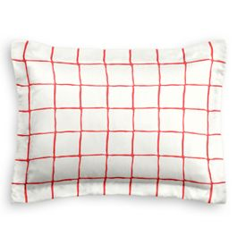 Burnt Orange Check Standard Sham