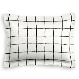 Black & White Check Standard Sham