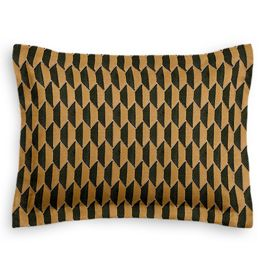 Bronze & Charcoal Diamond Standard Sham