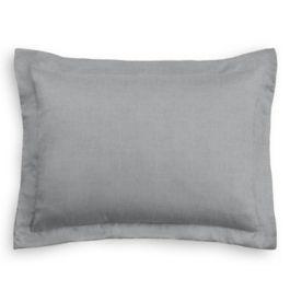 Pure Gray Linen Standard Sham