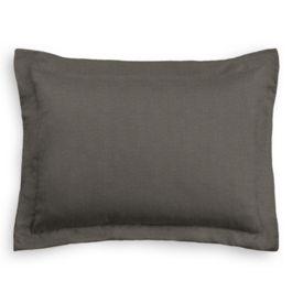 Dark Gray Linen Standard Sham