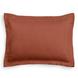Dark Red-Orange Linen Standard Sham