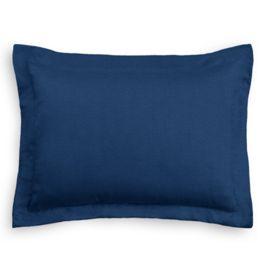 Dark Navy Blue Linen Standard Sham