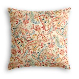 Multicolor Red Paisley Euro Sham