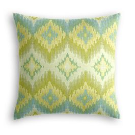 Aqua & Green Flame Stitch Euro Sham
