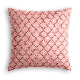 Pink Block Print Euro Sham